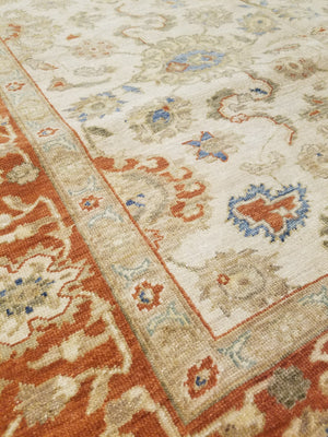 n480 - Classic Agra Rug (Wool) - 6' x 9' | OAKRugs by Chelsea high end wool rugs, hand knotted wool area rugs, quality wool rugs