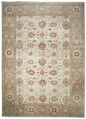 n485 - Classic Tabriz Rug (wool) - 10' x 14' | OAKRugs by Chelsea affordable wool rugs, handmade wool area rugs, wool and silk rugs contemporary
