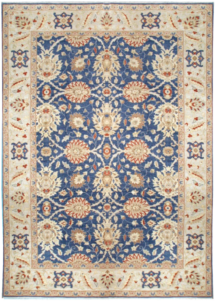 n490 - Classic Zeigler Rug (Wool) - 9' x 12' | OAKRugs by Chelsea affordable wool rugs, handmade wool area rugs, wool and silk rugs contemporary