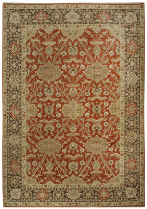 n497 - Classic Agra Rug (Wool) - 10' x 14' | OAKRugs by Chelsea affordable wool rugs, handmade wool area rugs, wool and silk rugs contemporary