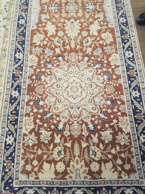 n506 - Classic Tabriz Rug (Wool) - 4' x 16' | OAKRugs by Chelsea wool bohemian rugs, good quality wool rugs, vintage wool braided rug