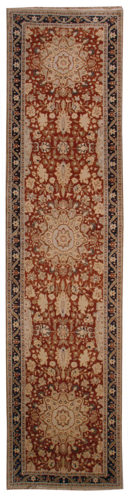 n506 - Classic Tabriz Rug (Wool) - 4' x 16' | OAKRugs by Chelsea affordable wool rugs, handmade wool area rugs, wool and silk rugs contemporary