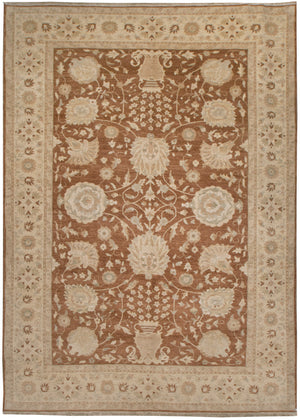n509 - Classic Zeigler Rug (Wool) - 9' x 12' | OAKRugs by Chelsea affordable wool rugs, handmade wool area rugs, wool and silk rugs contemporary