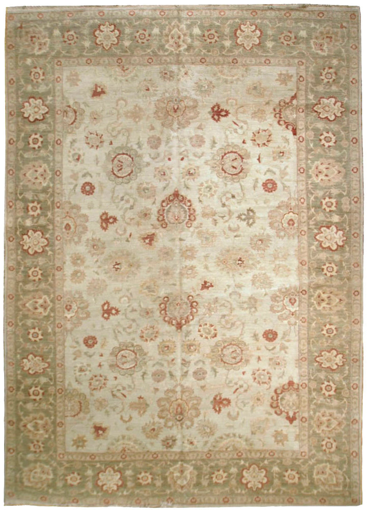 n513 - Classic Zeigler Rug (Wool) - 9' x 12' | OAKRugs by Chelsea affordable wool rugs, handmade wool area rugs, wool and silk rugs contemporary