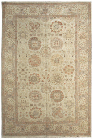 n517 - Classic Zeigler Rug (Wool) - 6' x 9' | OAKRugs by Chelsea affordable wool rugs, handmade wool area rugs, wool and silk rugs contemporary