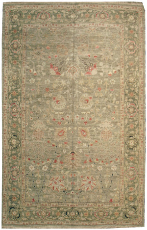 n518 - Classic Zeigler Rug (Wool) - 6' x 9' | OAKRugs by Chelsea affordable wool rugs, handmade wool area rugs, wool and silk rugs contemporary
