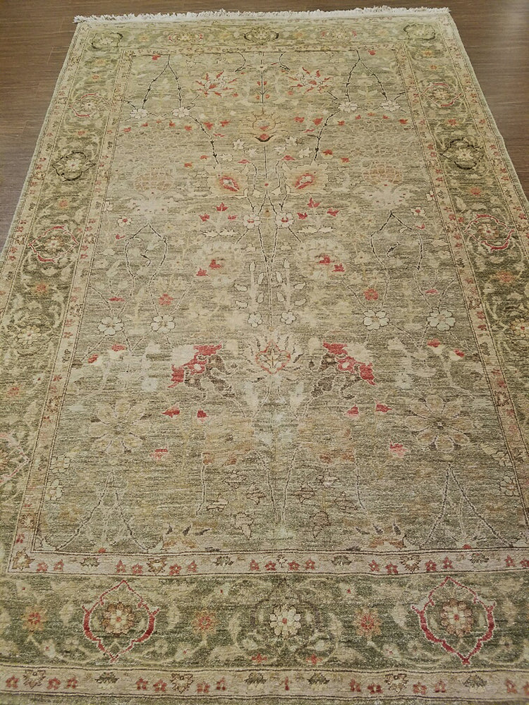 n518 - Classic Zeigler Rug (Wool) - 6' x 9' | OAKRugs by Chelsea wool bohemian rugs, good quality wool rugs, vintage wool braided rug