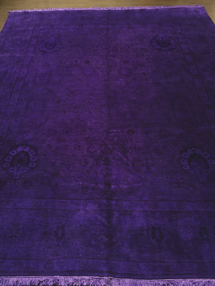 n522 - Transitional Overdye Rug (Wool) - 8' x 10' | OAKRugs by Chelsea handcrafted overdye rugs, handmade overdyed rugs, high quality overdyed area rugs