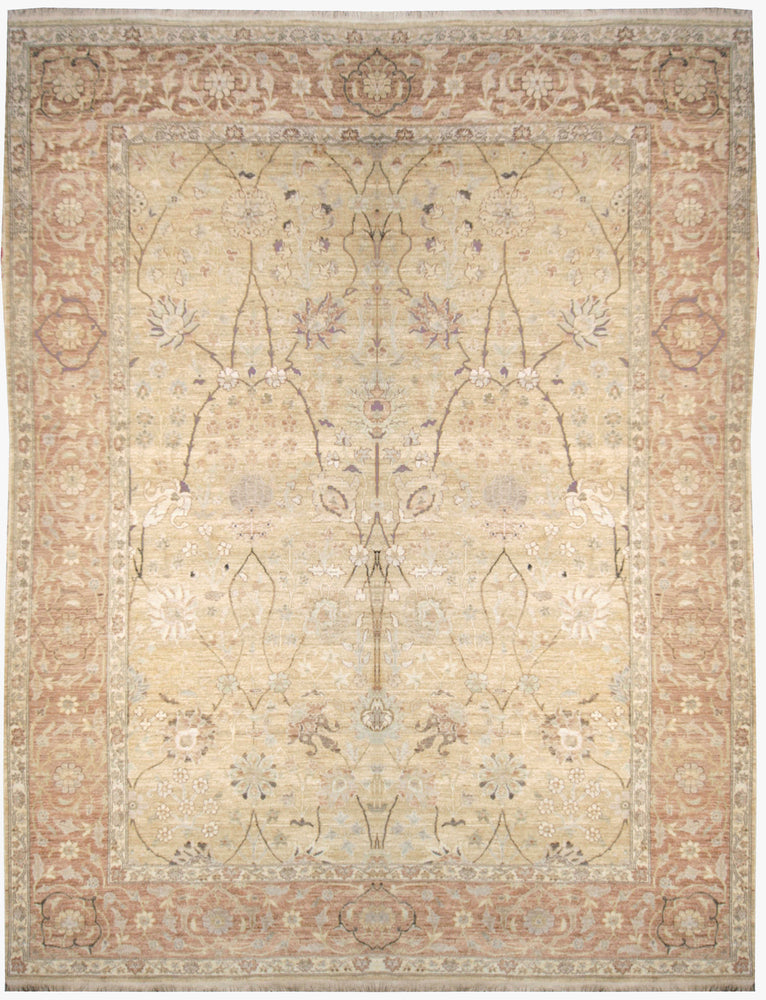 n523 - Classic Zeigler Rug (Wool) - 8' x 10' | OAKRugs by Chelsea affordable wool rugs, handmade wool area rugs, wool and silk rugs contemporary