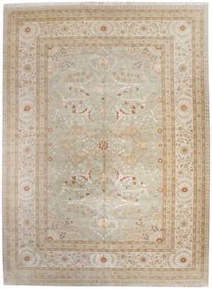 n534 - Classic Tabriz Rug (Wool and Silk) - 9' x 12' | OAKRugs by Chelsea affordable wool rugs, handmade wool area rugs, wool and silk rugs contemporary