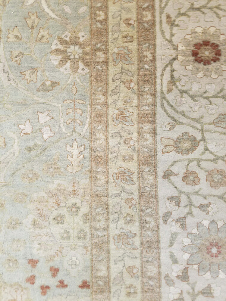n534 - Classic Tabriz Rug (Wool and Silk) - 9' x 12' | OAKRugs by Chelsea high end wool rugs, hand knotted wool area rugs, quality wool rugs