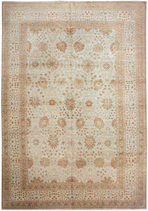 n535 - Classic Tabriz Rug (Wool) - 9' x 12' | OAKRugs by Chelsea affordable wool rugs, handmade wool area rugs, wool and silk rugs contemporary