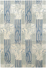 n537 - Transitional Art Deco Rug (Wool and Silk) - 6' x 9' | OAKRugs by Chelsea affordable wool rugs, handmade wool area rugs, wool and silk rugs contemporary