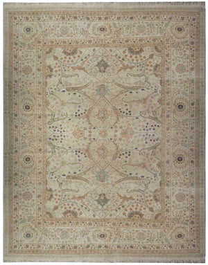 n5869 - Classic Tabriz Rug (Wool) - 10' x 14' | OAKRugs by Chelsea affordable wool rugs, handmade wool area rugs, wool and silk rugs contemporary