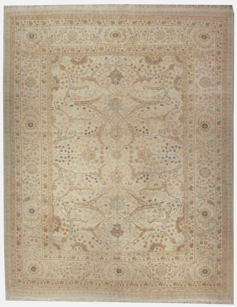 n5870 - Classic Tabriz Rug (Wool) - 8' x 10' | OAKRugs by Chelsea affordable wool rugs, handmade wool area rugs, wool and silk rugs contemporary