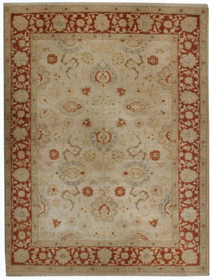 n5871 - Classic Agra Rug (Wool) - 8' x 10' | OAKRugs by Chelsea affordable wool rugs, handmade wool area rugs, wool and silk rugs contemporary