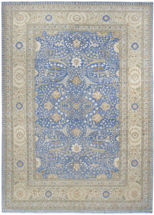n5876 - Classic Tabriz Rug (Wool) - 10' x 14' | OAKRugs by Chelsea affordable wool rugs, handmade wool area rugs, wool and silk rugs contemporary