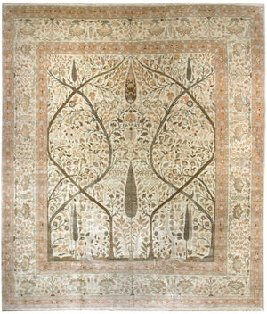 n5879 - Classic Tabriz Rug (Wool) - 12' x 14' | OAKRugs by Chelsea affordable wool rugs, handmade wool area rugs, wool and silk rugs contemporary