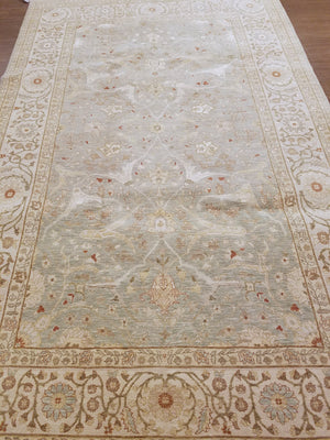 n5884 - Classic Tabriz Rug (Wool and Silk) - 6' x 9' | OAKRugs by Chelsea high end wool rugs, hand knotted wool area rugs, quality wool rugs