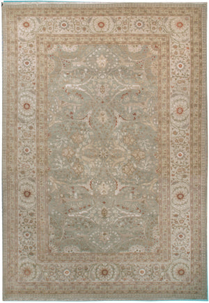 n5884 - Classic Tabriz Rug (Wool and Silk) - 6' x 9' | OAKRugs by Chelsea affordable wool rugs, handmade wool area rugs, wool and silk rugs contemporary