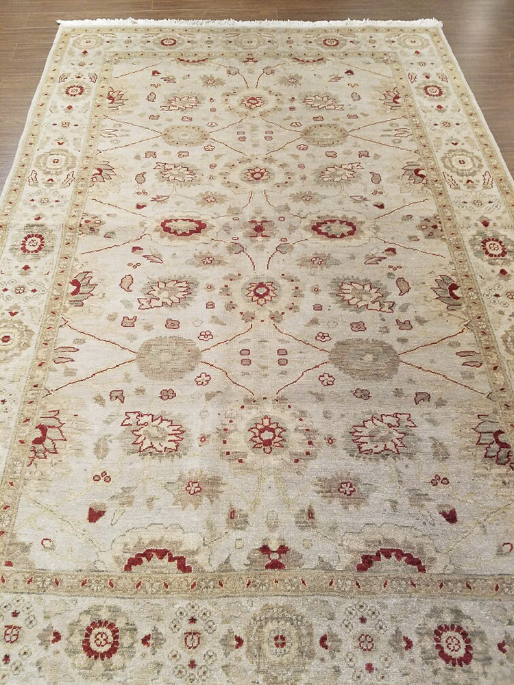 n5891 - Classic Tabriz Rug (Wool and Silk) - 6' x 9' | OAKRugs by Chelsea wool bohemian rugs, good quality wool rugs, vintage wool braided rug