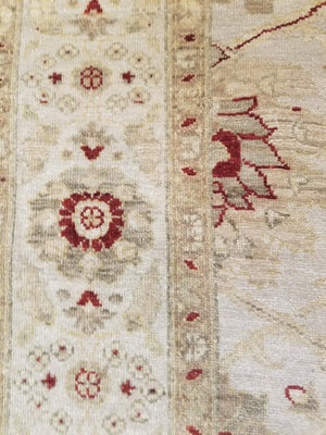 n5891 - Classic Tabriz Rug (Wool and Silk) - 6' x 9' | OAKRugs by Chelsea high end wool rugs, hand knotted wool area rugs, quality wool rugs