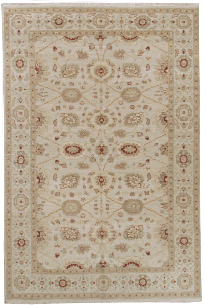n5891 - Classic Tabriz Rug (Wool and Silk) - 6' x 9' | OAKRugs by Chelsea affordable wool rugs, handmade wool area rugs, wool and silk rugs contemporary