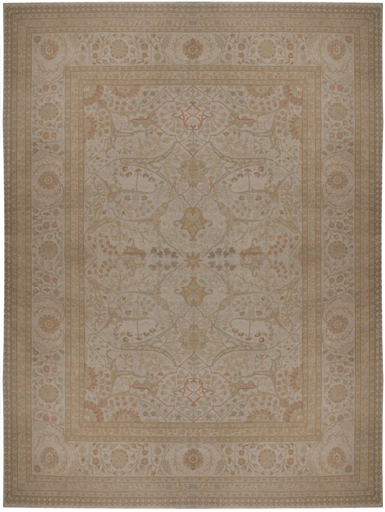 n5920 - Classic Tabriz Rug (Wool) - 9' x 12' | OAKRugs by Chelsea affordable wool rugs, handmade wool area rugs, wool and silk rugs contemporary
