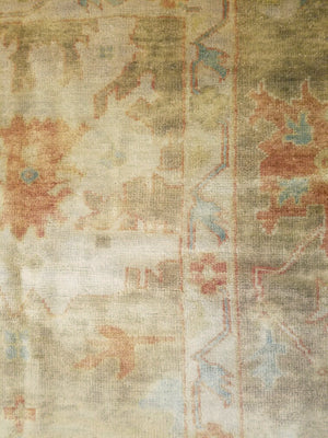 n5923 - Classic Oushak Rug (Wool) - 9' x 12' | OAKRugs by Chelsea high end wool rugs, hand knotted wool area rugs, quality wool rugs