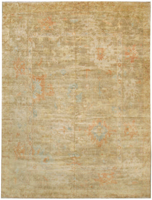 n5923 - Classic Oushak Rug (Wool) - 9' x 12' | OAKRugs by Chelsea affordable wool rugs, handmade wool area rugs, wool and silk rugs contemporary