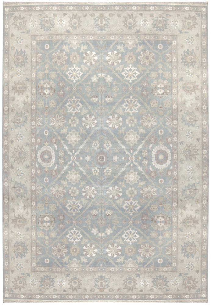 n5928 - Transitional Tabriz Rug (Wool and Silk) - 9' x 12' | OAKRugs by Chelsea affordable wool rugs, handmade wool area rugs, wool and silk rugs contemporary