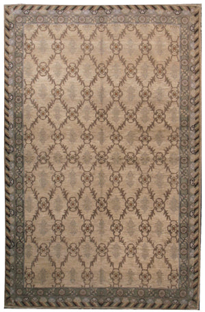 n5929 - Classic Samarkand Rug (Wool) - 6' x 9' | OAKRugs by Chelsea affordable wool rugs, handmade wool area rugs, wool and silk rugs contemporary