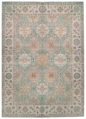 n5940 - Classic Zeigler Rug (Wool) - 10' x 14' | OAKRugs by Chelsea affordable wool rugs, handmade wool area rugs, wool and silk rugs contemporary