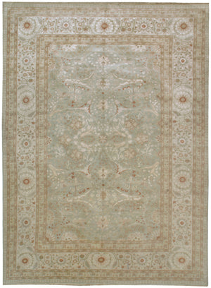 n5945 - Classic Tabriz Rug (Wool and Silk) - 10' x 14' | OAKRugs by Chelsea affordable wool rugs, handmade wool area rugs, wool and silk rugs contemporary
