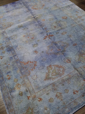 n5958 - Transitional Overdye Rug (wool) - 8' x 10' | OAKRugs by Chelsea handcrafted overdye rugs, handmade overdyed rugs, high quality overdyed area rugs