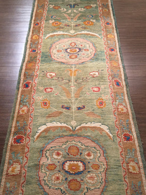 n5967 - Classic Oushak Rug Runner (Wool) - 3' x 19' | OAKRugs by Chelsea high end wool rugs, hand knotted wool area rugs, quality wool rugs