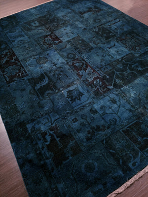 n5969 - Transitional Overdye Rug (Wool) - 9' x 12' | OAKRugs by Chelsea handcrafted overdye rugs, handmade overdyed rugs, high quality overdyed area rugs
