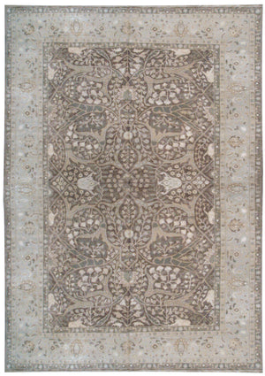 n5976 - Transitional Tabriz Rug (Wool and Silk) - 10' x 14' | OAKRugs by Chelsea affordable wool rugs, handmade wool area rugs, wool and silk rugs contemporary