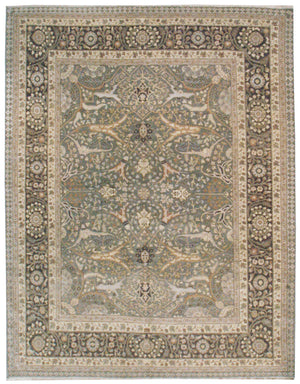 n5978 - Classic Tabriz Rug (Wool) - 8' x 10' | OAKRugs by Chelsea affordable wool rugs, handmade wool area rugs, wool and silk rugs contemporary