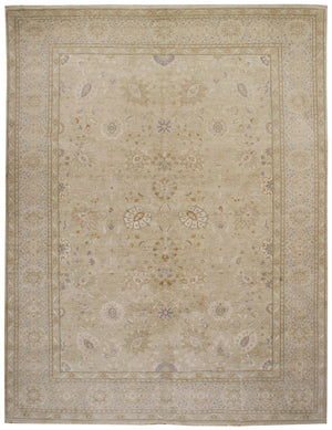n5980 - Transitional Tabriz Rug (Wool) - 12' x 15' | OAKRugs by Chelsea affordable wool rugs, handmade wool area rugs, wool and silk rugs contemporary