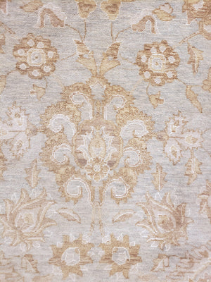 n5983 - Transitional Tabriz Rug (Wool and Silk) - 10' x 14' | OAKRugs by Chelsea high end wool rugs, hand knotted wool area rugs, quality wool rugs
