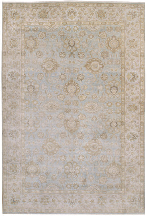 n5983 - Transitional Tabriz Rug (Wool and Silk) - 10' x 14' | OAKRugs by Chelsea affordable wool rugs, handmade wool area rugs, wool and silk rugs contemporary