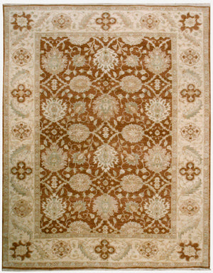 n5994 - Classic Zeigler Rug (Wool) - 8' x 10' | OAKRugs by Chelsea affordable wool rugs, handmade wool area rugs, wool and silk rugs contemporary