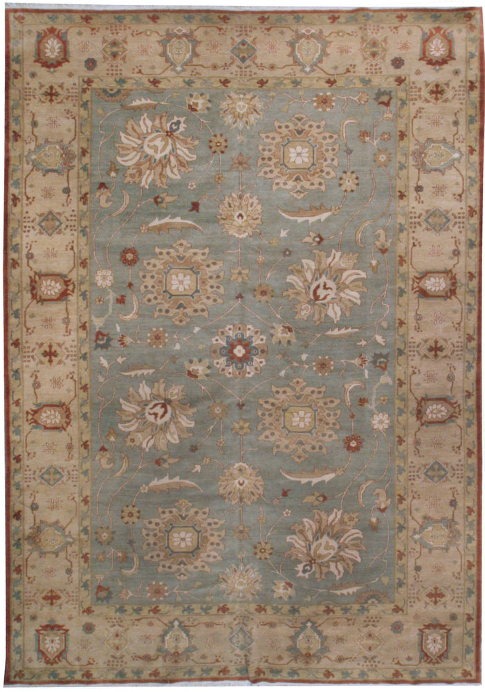 n5998 - Classic Zeigler Rug (Wool) - 9' x 12' | OAKRugs by Chelsea affordable wool rugs, handmade wool area rugs, wool and silk rugs contemporary