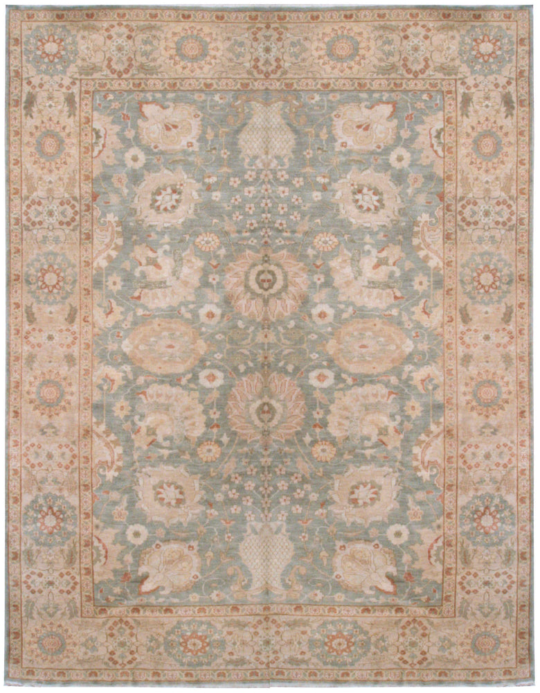 n6000 - Classic Zeigler Rug (Wool) - 10' x 12' | OAKRugs by Chelsea affordable wool rugs, handmade wool area rugs, wool and silk rugs contemporary