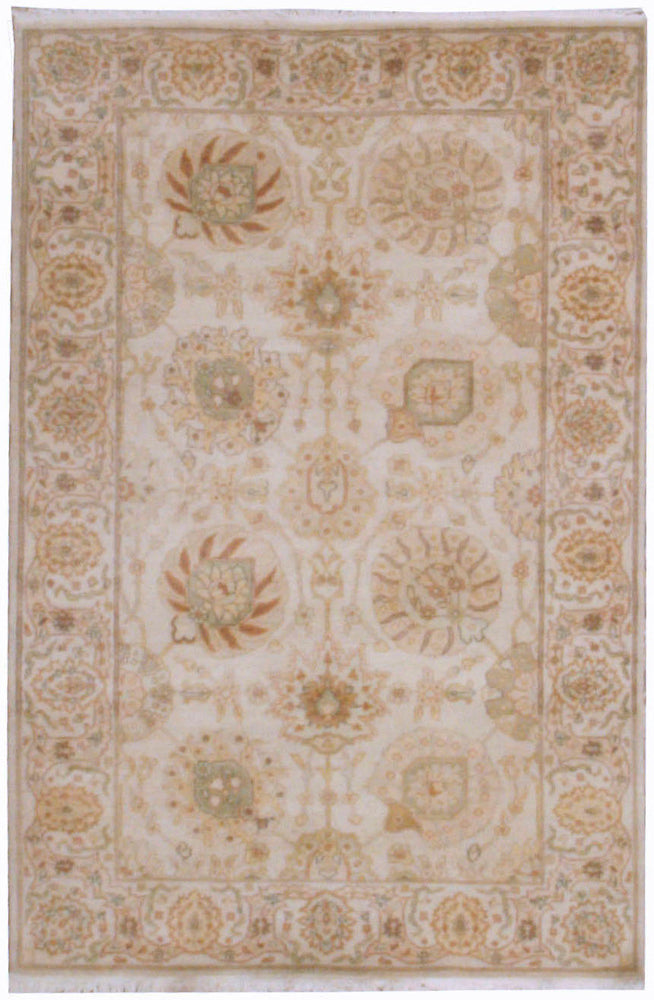 n6002 - Classic Zeigler Rug (Wool) - 4' x 6' | OAKRugs by Chelsea affordable wool rugs, handmade wool area rugs, wool and silk rugs contemporary