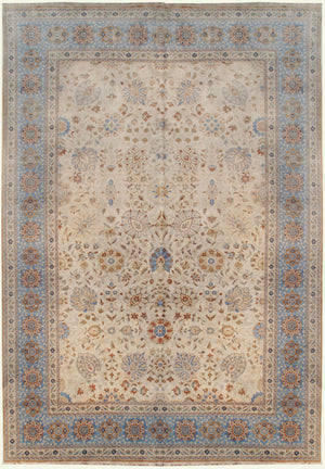 n6022 - Classic Tabriz Rug (Wool) - 10' x 14' | OAKRugs by Chelsea affordable wool rugs, handmade wool area rugs, wool and silk rugs contemporary