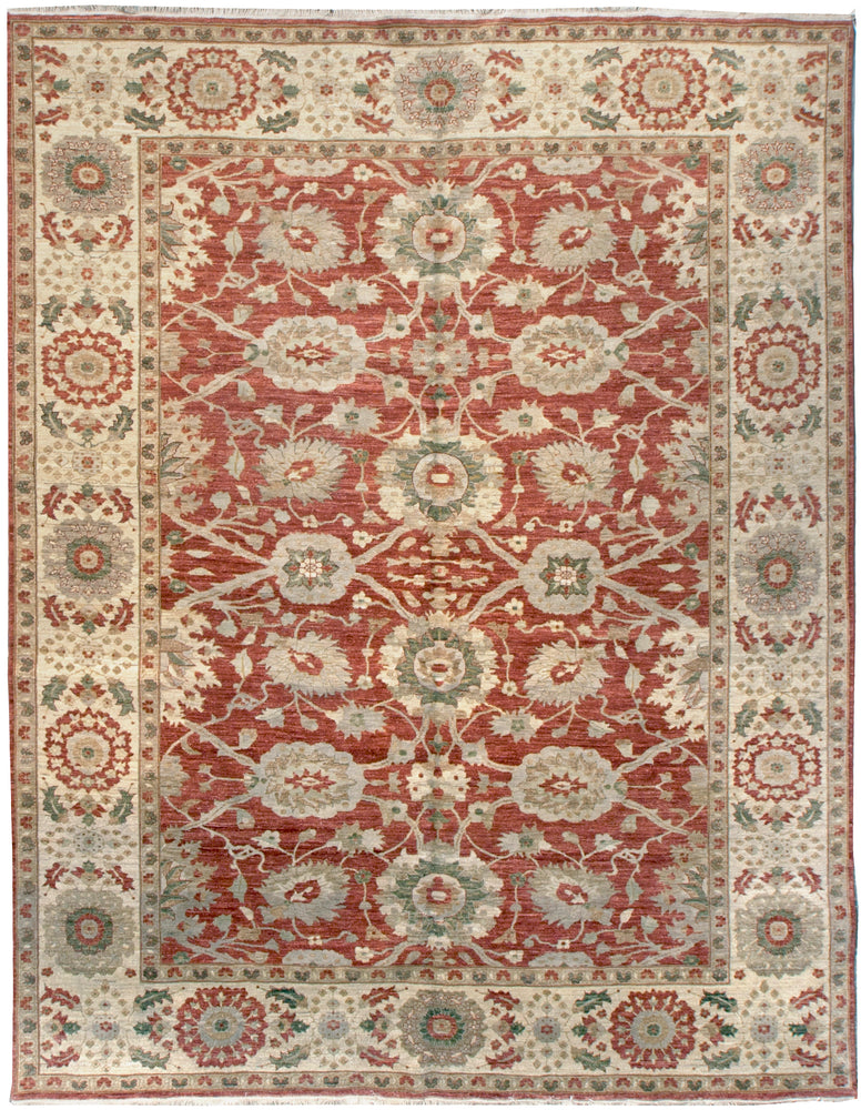 n6025 - Classic Zeigler Rug (wool) - 8' x 10' | OAKRugs by Chelsea affordable wool rugs, handmade wool area rugs, wool and silk rugs contemporary