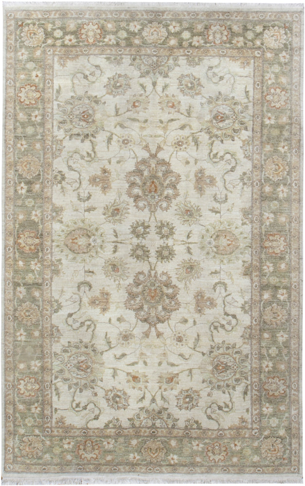n6030 - Classic Agra Rug (wool) - 6' x 9' | OAKRugs by Chelsea affordable wool rugs, handmade wool area rugs, wool and silk rugs contemporary
