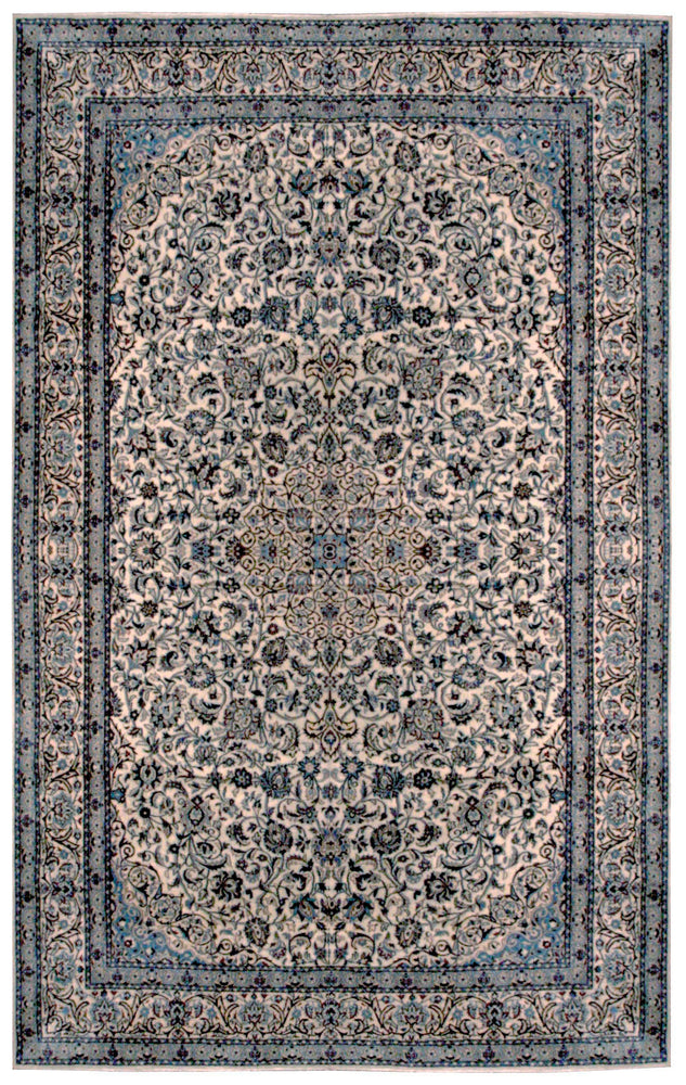 n6033 - Classic Nayeen Rug (Wool and Silk) - 8' x 10' | OAKRugs by Chelsea affordable wool rugs, handmade wool area rugs, wool and silk rugs contemporary